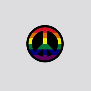 Pride Peace Sign Mini Button (10 pack)